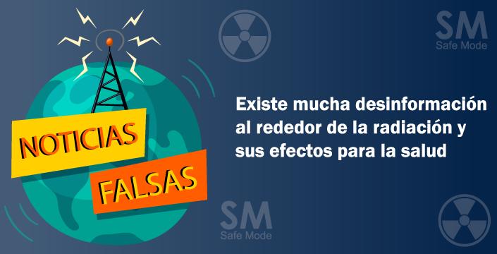 noticias falsas de radiacion
