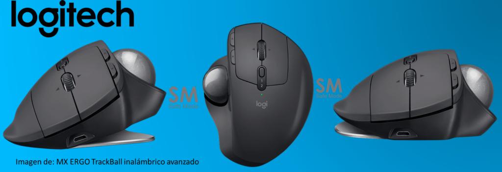 mouse ergonomico con trackball