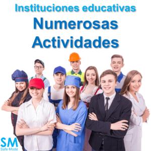 Actividades en instituciones educativas