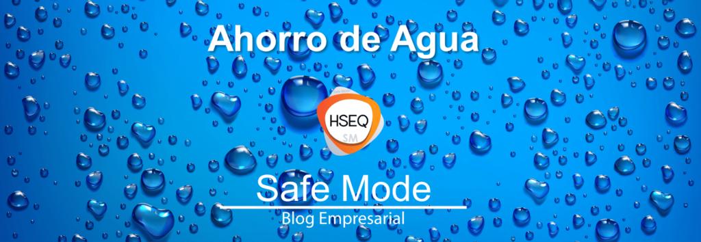 ahorro de agua - gestión ambiental