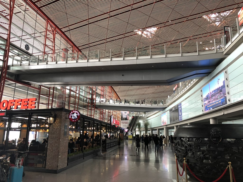 北京首都空港スノーボードトリップ