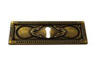 Nyckelskylt till möbler liggande antikbehnadlad