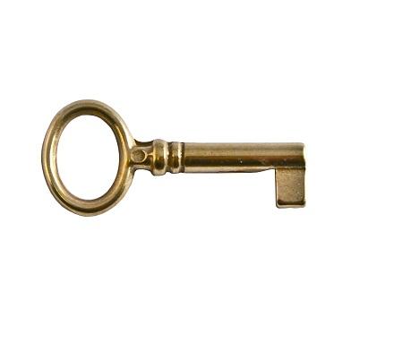 Nyckel för möbellås mässing