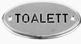 Toalettskylt Krom