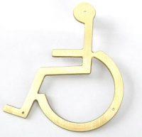 wcskylt handikapp mässing
