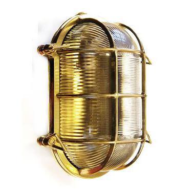 Gallerlampa oval mässing