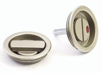 Wc-vred för skjutdörr mattnickel