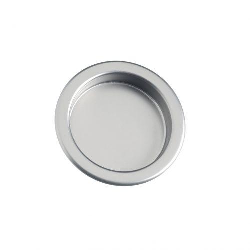 Skålhandtag för skjutdörrar mattkrom
