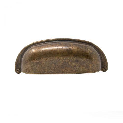 skålhandtag 96mm cc antikbehandlad mässing
