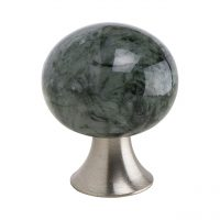 exklusiv knopp lyxig marmor vit vitt sten mattborstad nickel rostfritt stål grön grå mörk