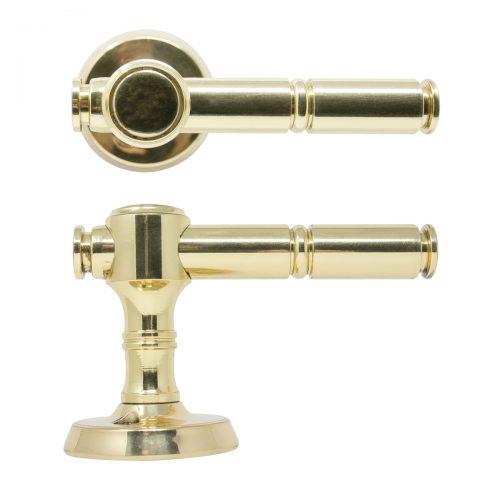 dörrhandtag mässing blank guld ytterdörr handtag