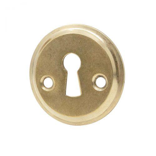 nyckelskylt antik mässing nyckelhålsbeslag