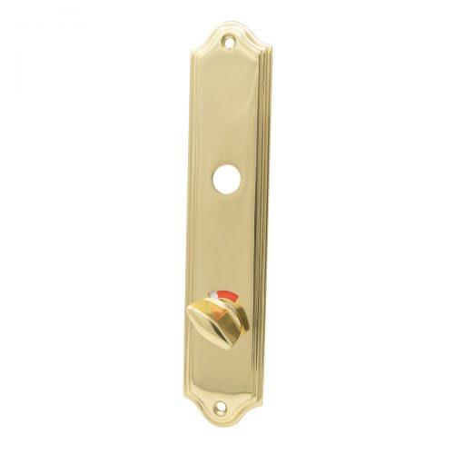 långskylt wc toalettvred mässing blank guld för gammal dörr