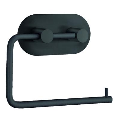 självhäftande svart toalettpappershållare