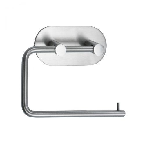 mattborstad nickel rostfri look rundad självhäftande för badrum toalettpappershållare