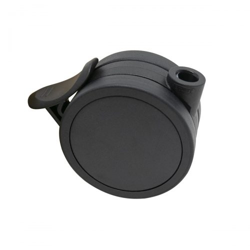 hjul med broms svart 65mm