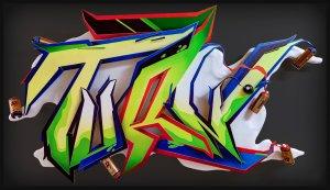 """Mit meinem Graffiti """"Turn"""" unterstütze ich das Museum des Lebens """"Biotopia"""""""