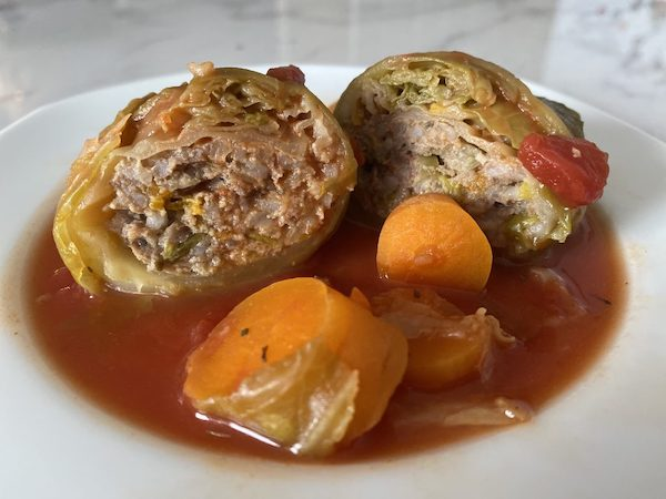 Cabbage rolls stuffed with veg and mince by Fit FODMAP Foodie