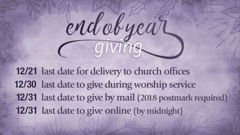 end of year giving dates