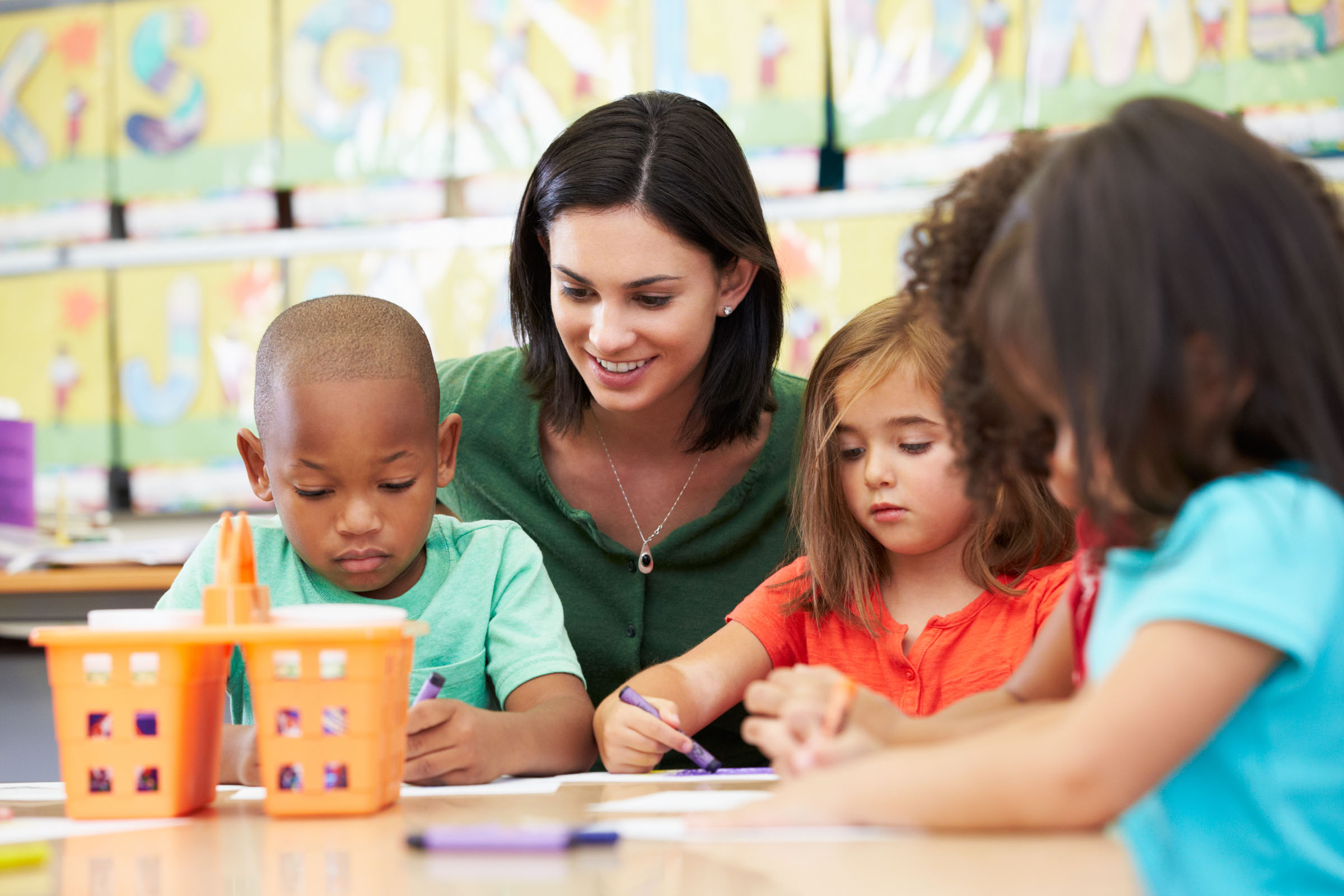 Preschool Pals group coloring