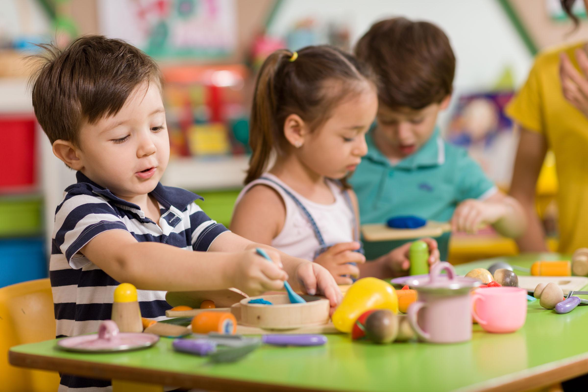 Preschool Pals children playing house
