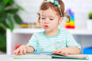 Preschool Pals girl reading