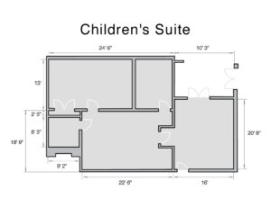 Children's suite dimensions