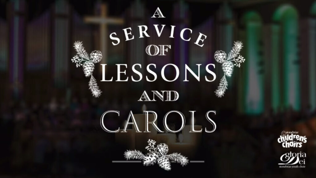 "masthead: ""A Service of Lessons and Carols"" Concert"