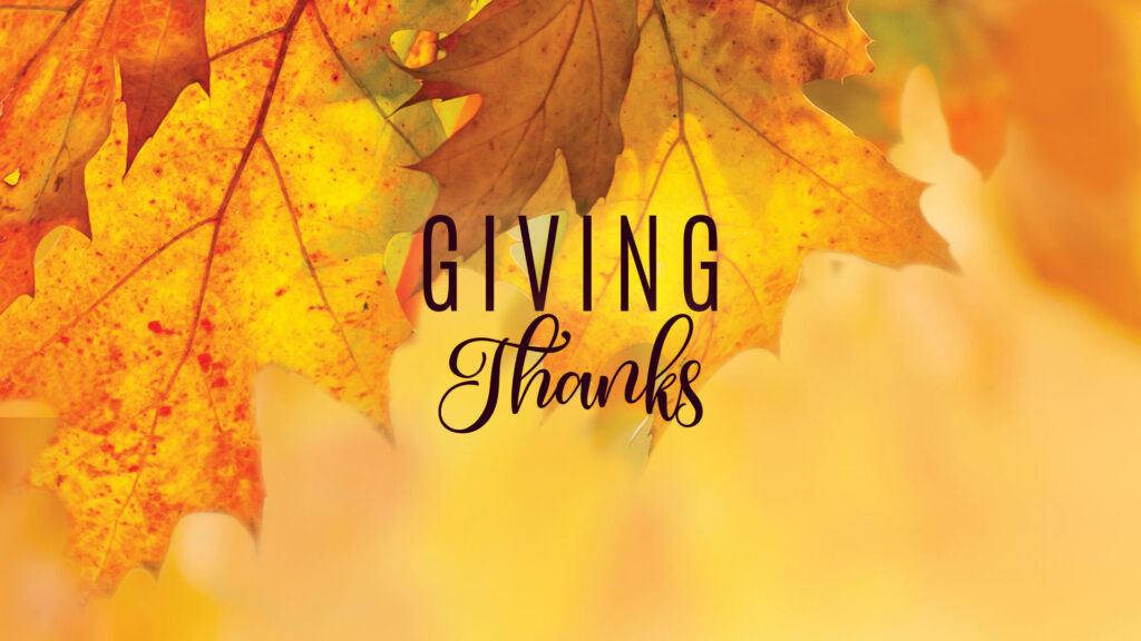 masthead: Giving Thanks