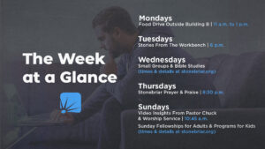 Wek at a Glance highlights the week's activities online