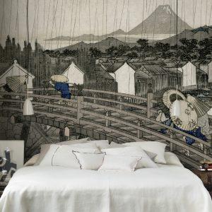 Tapeter Arkiv Hiroshiges regnskyar 609-09 609-09 Mönster