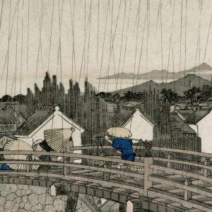 Tapeter Arkiv Hiroshiges regnskyar 609-09 609-09 Interiör
