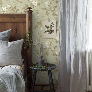 Vilka gardiner passar grön tapeter (48 bilder): Vilka är de