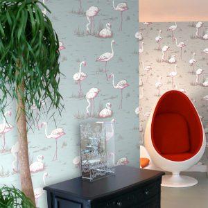 Tapeter New Contemporary Flamingos 66/6044 66/6044 Interiör