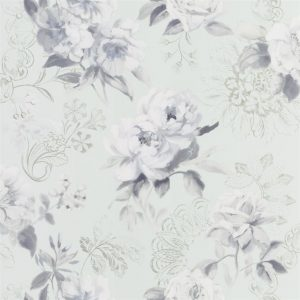 Tapeter Mandora Wallpaper Victorine Pale Aqua PDG1051/04 PDG1051/04 Mönster