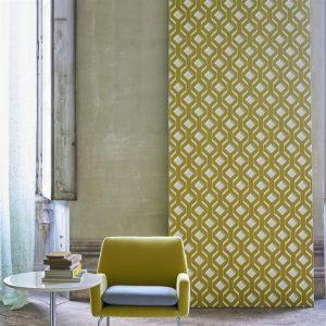 Tapeter Mandora Wallpaper Chareau Chartreuse PDG1053/04 PDG1053/04 Interiör