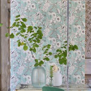 Tapeter Mandora Wallpaper Emilie Aqua PDG1050/02 PDG1050/02 Interiör