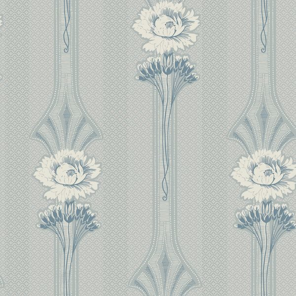Tapeter Margareta powder blue 811-26 811-26 Interiör alternativ