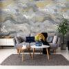 Tapeter väggbild Sierra Charocal Gold 99347 99347 Interiör alternativ