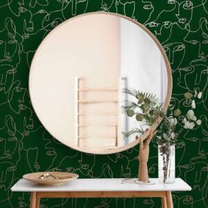 Tapeter Linear Visage Green/Gold 91270 91270 Interiör