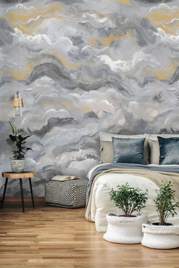 Tapeter väggbild Sierra Charocal Gold 99347 99347 Interiör