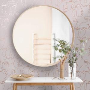 Tapeter Linear Visage Pink 91274 91274 Interiör