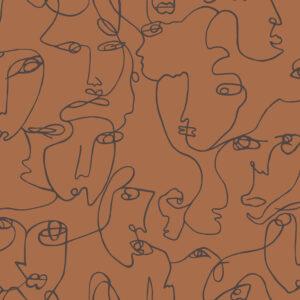 Tapeter Linear Visage Burnt Orange 91271 91271 Mönster