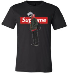 Cool Kakashi In Naruto With Supreme Fashion Unisex Tshirt