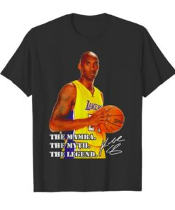 Kobe Bryant the mamba the myth the legend signature Unisex Tshirt