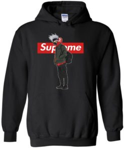Cool Kakashi In Naruto With Supreme Fashion LongSleeve Tshirt