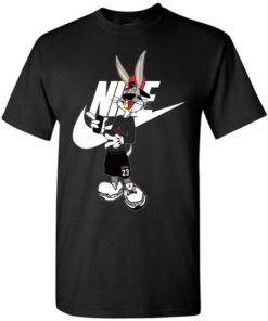 Cool Bug Bunny With Nike Jordan Fashion Unisex Tshirt