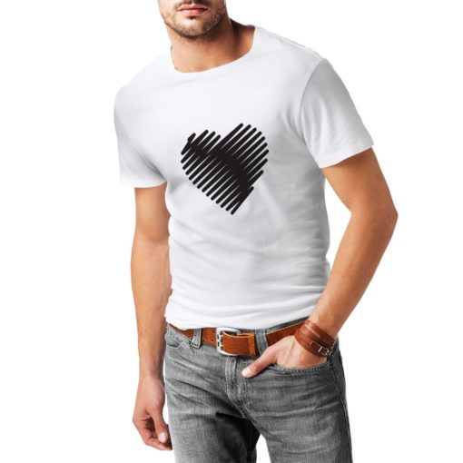 T Shirts For Men Stylish Heart I Love You Gifts Valentines Day Outfits 7946 Unisex Tshirt