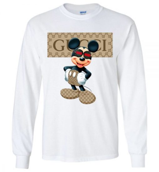 Gucci Stripe Mickey Mouse Stay Stylish Unisex Tshirt