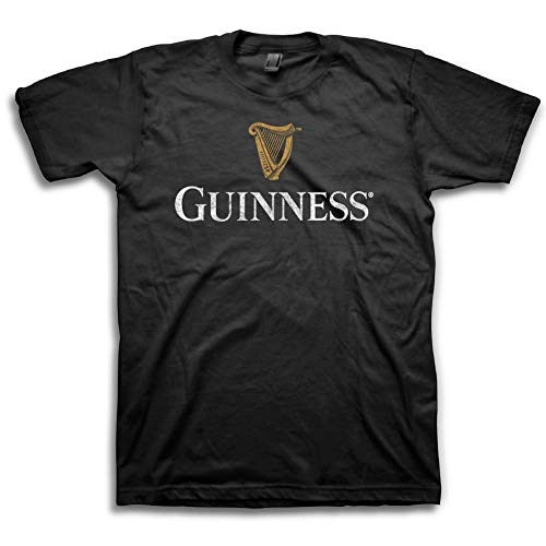 Guinness Mens Beer Label Shirt - The Irish Stout Brewery Logo Shirt Graphic Unisex Tshirt